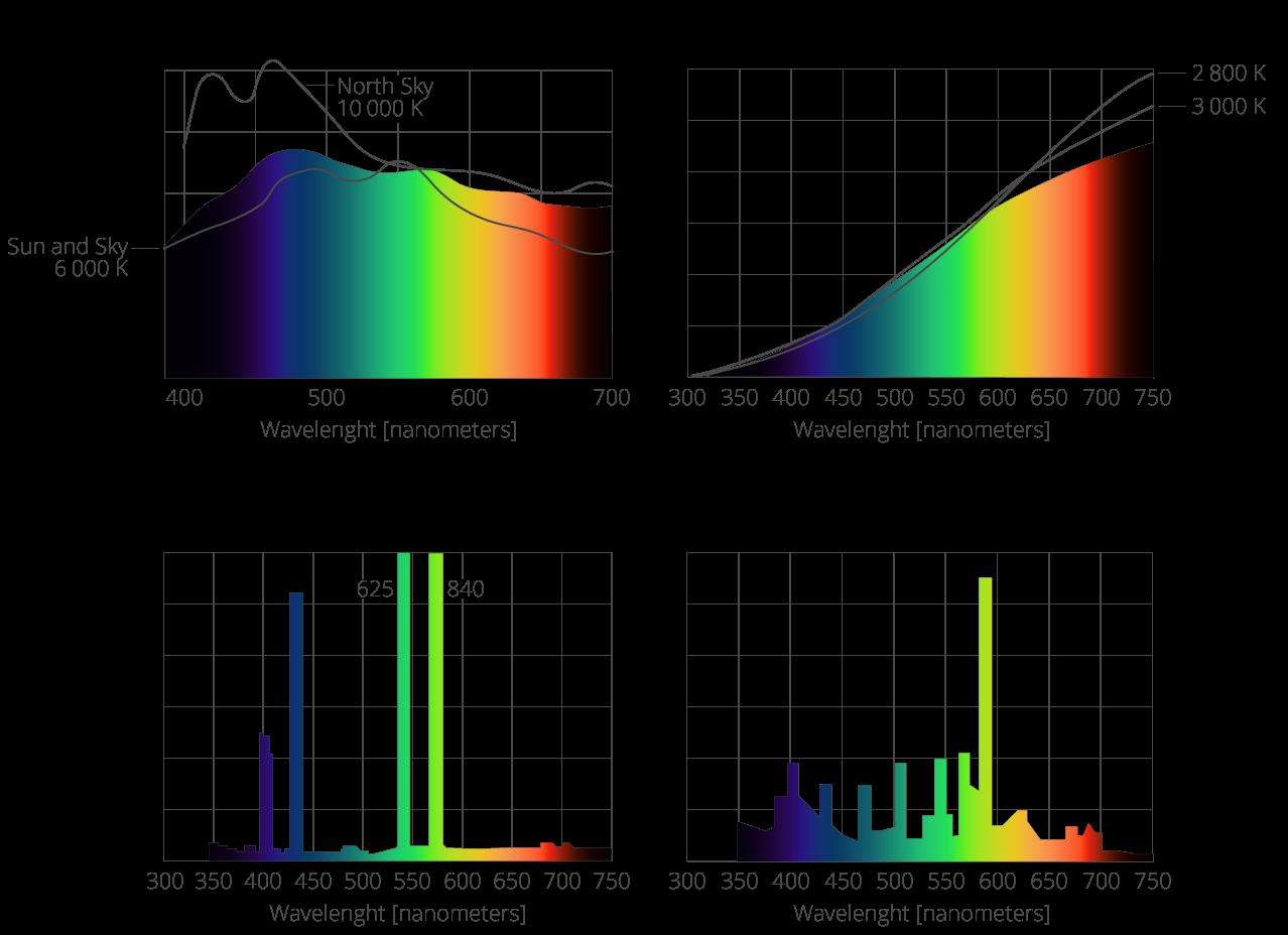 1.3 Spectra of various light sources » Gigahertz-Optik for Mercury Spectrum  155sfw